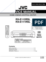 Jvc RXE 111 RSL Service Manual