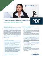 L Assurance de Protection Juridique de La Bâloise