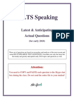 IELTS Speaking Q for Early 2018