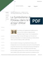 Le Symbolisme de l'Oiseau Dans Le Mantiq Al-tayr d'Attar