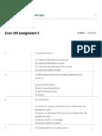 Econ 201 Assignment 5 Flashcards _ Quizlet