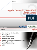 TCMOAUG ASCP Supplier Scheduling