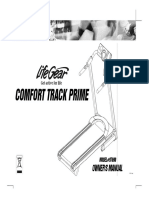 Manual Caminadora Comfort Track Prime