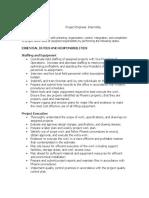 Project Engineer Job Description College