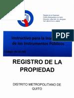 Instructivo Para Las Inscripciones de Instrumentos Publicos