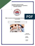 Estudio Del Puesto Del Auditor y Del Equipo Que Trabaja en Auditoría_hosmany Dueñas