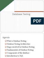 1 Database Testing