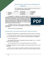 Las Locuciones Prepositivas Conjuntivas Adverbiales y Verbales