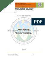 Manual de Reglas Para Elaboración de Informes (1)