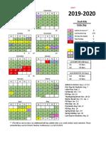 2019-20 Option 2 Week Fall Break - Easter Spring Break