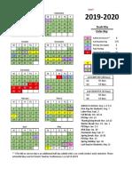2019-20 Option 1 Week Thanksgiving - March Spring Break