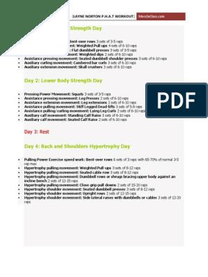 Layne-Norton-Phat-Workout pdf | Recreation | Weight Training