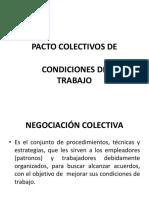 2.1 Pacto Colectivos de Condiciones de Trabajo