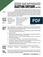 Art Submission Criteria - June 2013