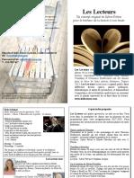 Les Lecteurs - feuillet 8x11 Biblio