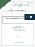Compte Rendu TP5 VHDL