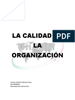 Calidad en la Organización