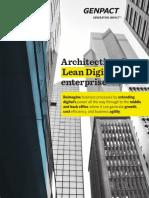Architecting the Lean Digital Enterprise