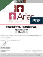 Encuesta Arias Consultores - Mayo 2018