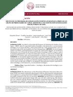 Efectos de Un Programa de Estimulación Fonética Fonológica Preff