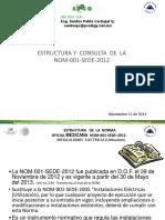 Estructura de La Nom 001 Sede 2012_americ_2014