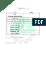 Tabela de Exames - Preencher