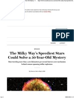 The Milky Way's Speediest Stars Could Solve a 50-Year-Old Mystery - Scientific American.pdf