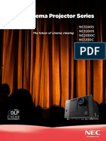 Digital Cinema Projector Series2 SpecBrochure
