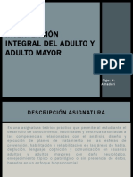 Intervención integral del  adulto y adulto mayor