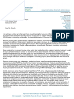 Letter sent to Milford Village Council from Oakland Community Health Network