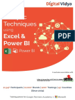 Analytic Techniques Using Excel Power BI