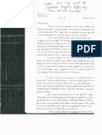 Letter indicating Steven Vogt's Innocence