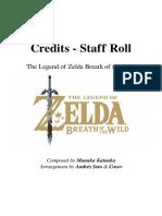 Zelda Breath of the Wild - Staff Roll
