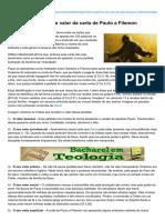 Institutogamaliel.com-5 Fatos Magníficos Do Valor Da Carta de Paulo a Filemon