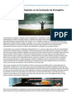 Institutogamaliel.com-A Consequência Da Rejeição Ou Da Aceitação Do Evangelho