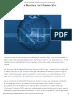 Estructura de Las Normas de Información Financiera (NIF) - Contador Contado