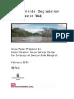 Environmental Degradation and Disaster Risk