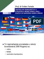03 Srdjan Furtula -Centralno Bankarstvo u Evropskoj Monetarnoj Uniji - Izazovi Za Narodnu Banku Srbije