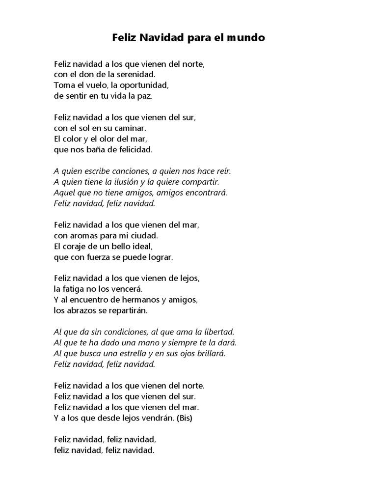 Feliz Navidad Cancion Original.Feliz Navidad Para El Mundo