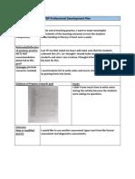 pdp professional development plan semester 4