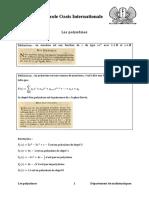 Cours Polynômes