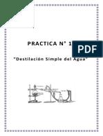 Destilacion Simple Del Agua