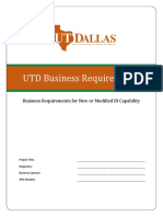 UTD Business Requirements Template v1.0