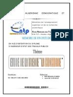 Etude de La Tremie -La Concorde