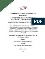 """CARACTERIZACIÓN DEL FINANCIAMIENTO, LA CAPACITACIÓN Y LA RENTABILIDAD DE LAS MICRO Y PEQUEÑAS EMPRESAS DEL SECTOR SERVICIORUBRO AGENCIAS DE ADUANA DEL DISTRITO DE DESAGUADERO PROVINCIA DE CHUCUITO, PERIODO 2013-2014"""""""