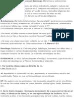 Judaísmo vs Cristianismo en el decálogo diferencias y aplicaciones.pdf