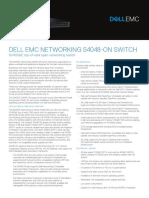 Dell-EMC-Networking-S4048-ON-Spec-Sheet pdf   I Pv6
