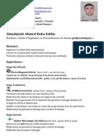 Almahjoub Ahmed Baha Eddin Cv12082017 - FR
