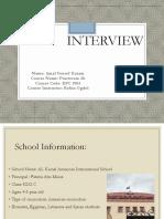 interviwe - presentation