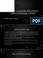 Auditing Computer Processing User-controlled System Report